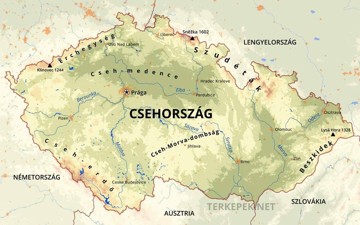 moldva térkép Csehország térképek